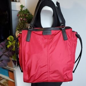 Burberry deep red tote
